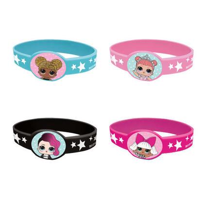 L.O.L.Surprise 4 Stretchy Bracelets For Birthday Party