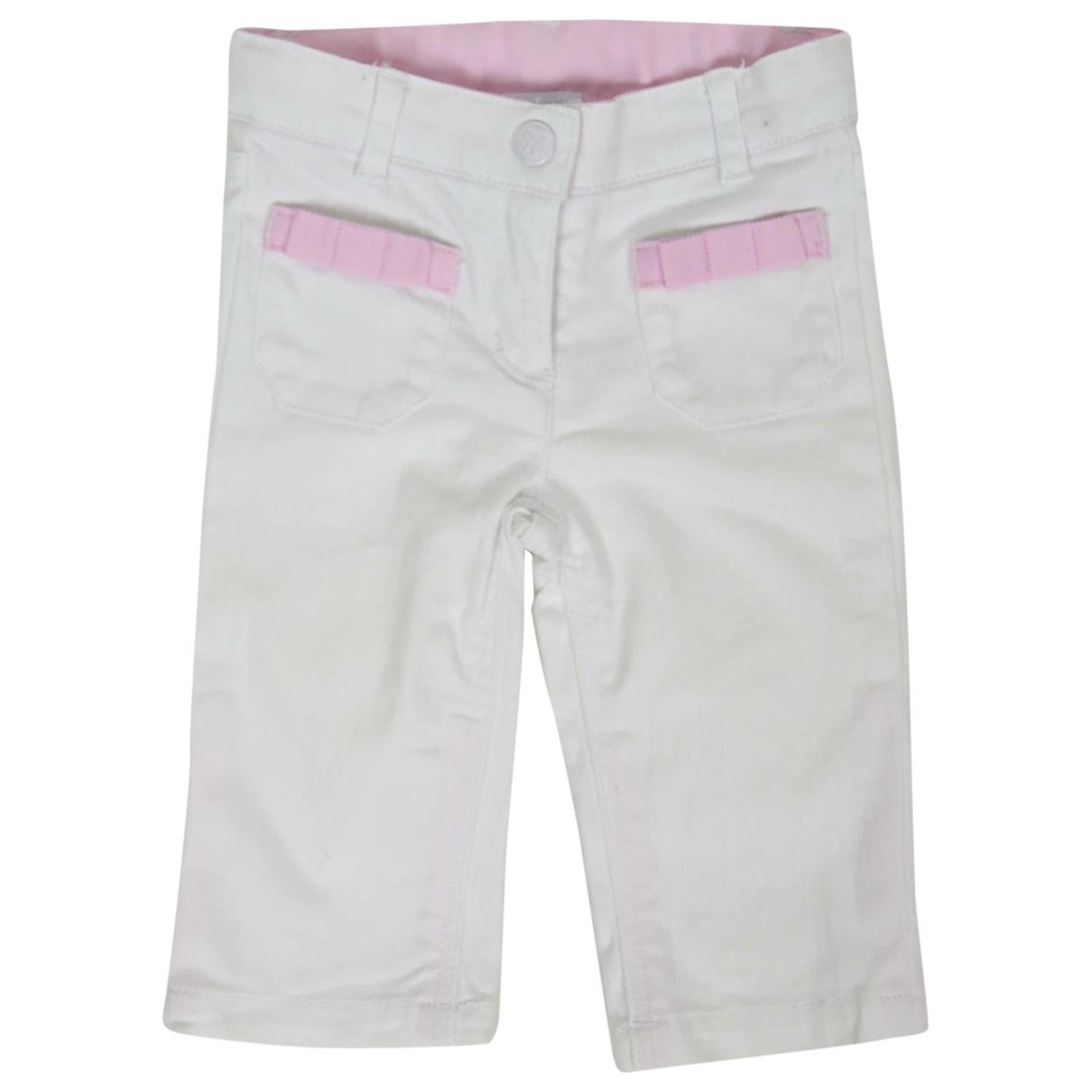 Pantalones en Algodon Blanco Jacadi