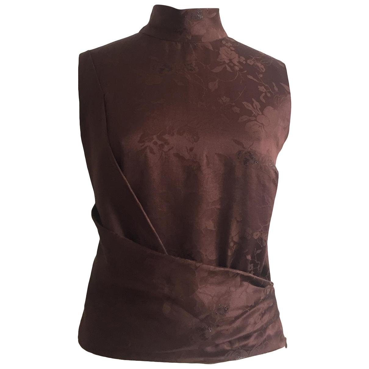 Kenzo - Top   pour femme en soie - marron