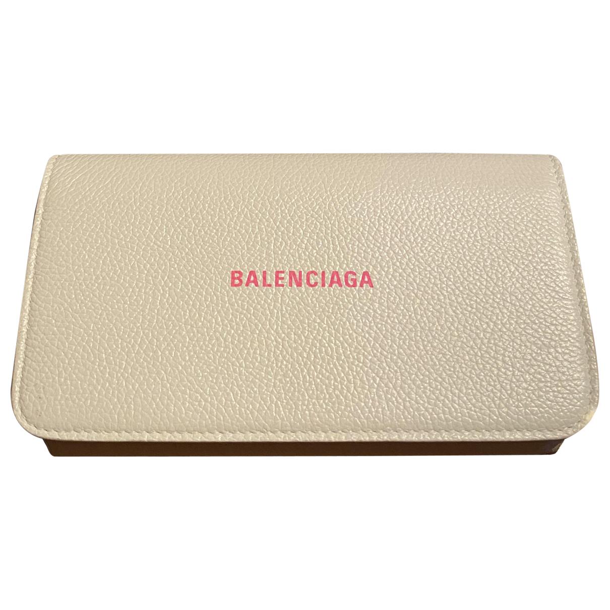 Balenciaga - Pochette Everyday pour femme en cuir - blanc