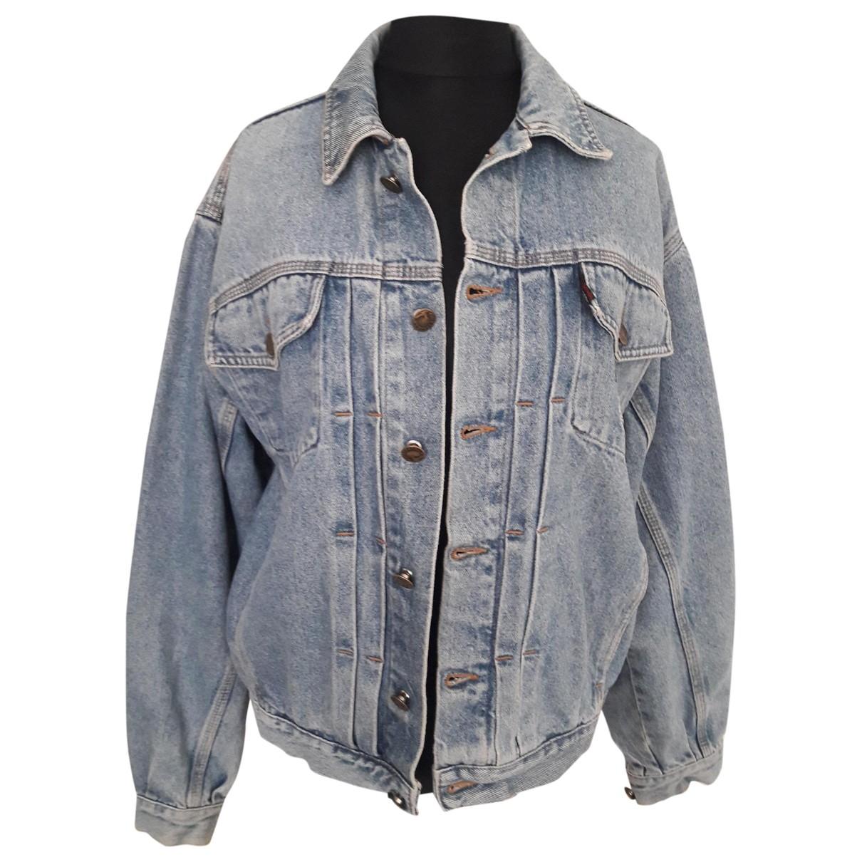 Trussardi \N Jacke in  Blau Denim - Jeans