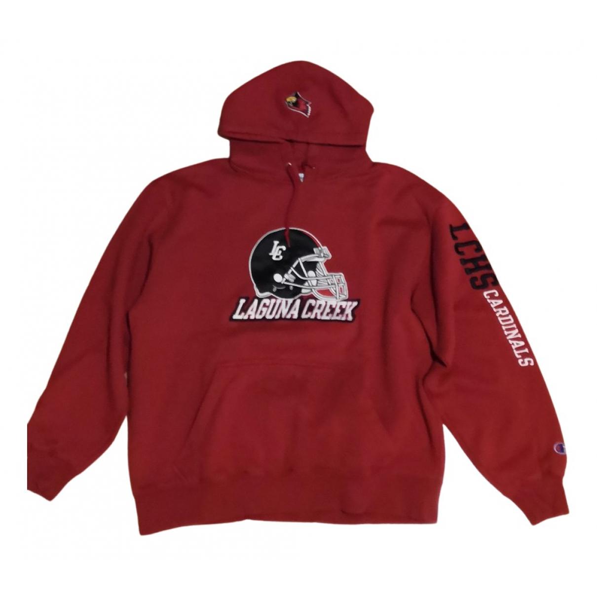 Champion \N Pullover.Westen.Sweatshirts  in  Rot Baumwolle