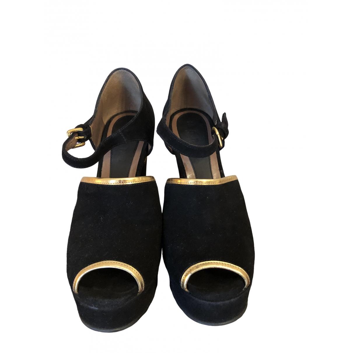 Marni \N Black Suede Sandals for Women 36 EU