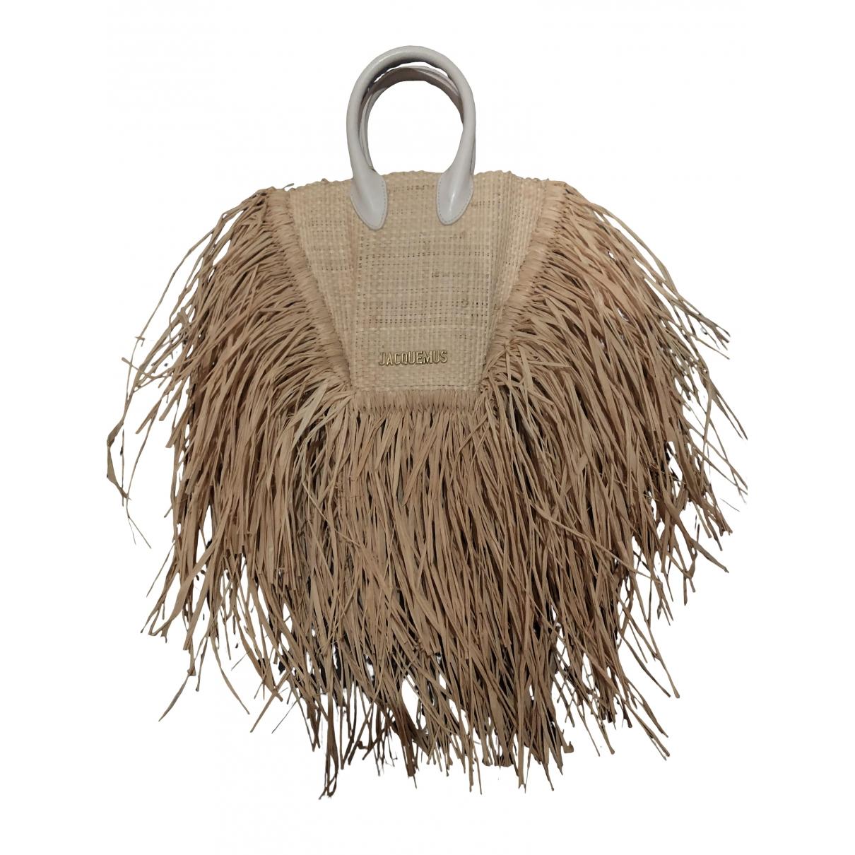 Jacquemus Le Petit Baci Beige Wicker handbag for Women \N