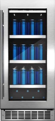 DBC031D4BSSPR 15 Silhouette Professional Series Single Zone Beverage Center with 3.1 cu. ft. Capacity  CovetedCold Technology  3 Shelves  Low
