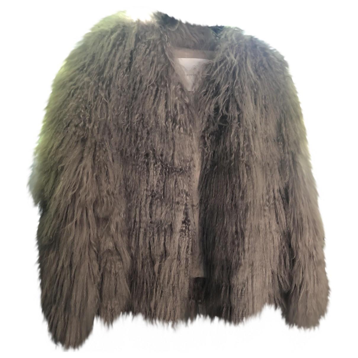 Francesco Scognamiglio \N Grey Faux fur jacket for Women 42 IT