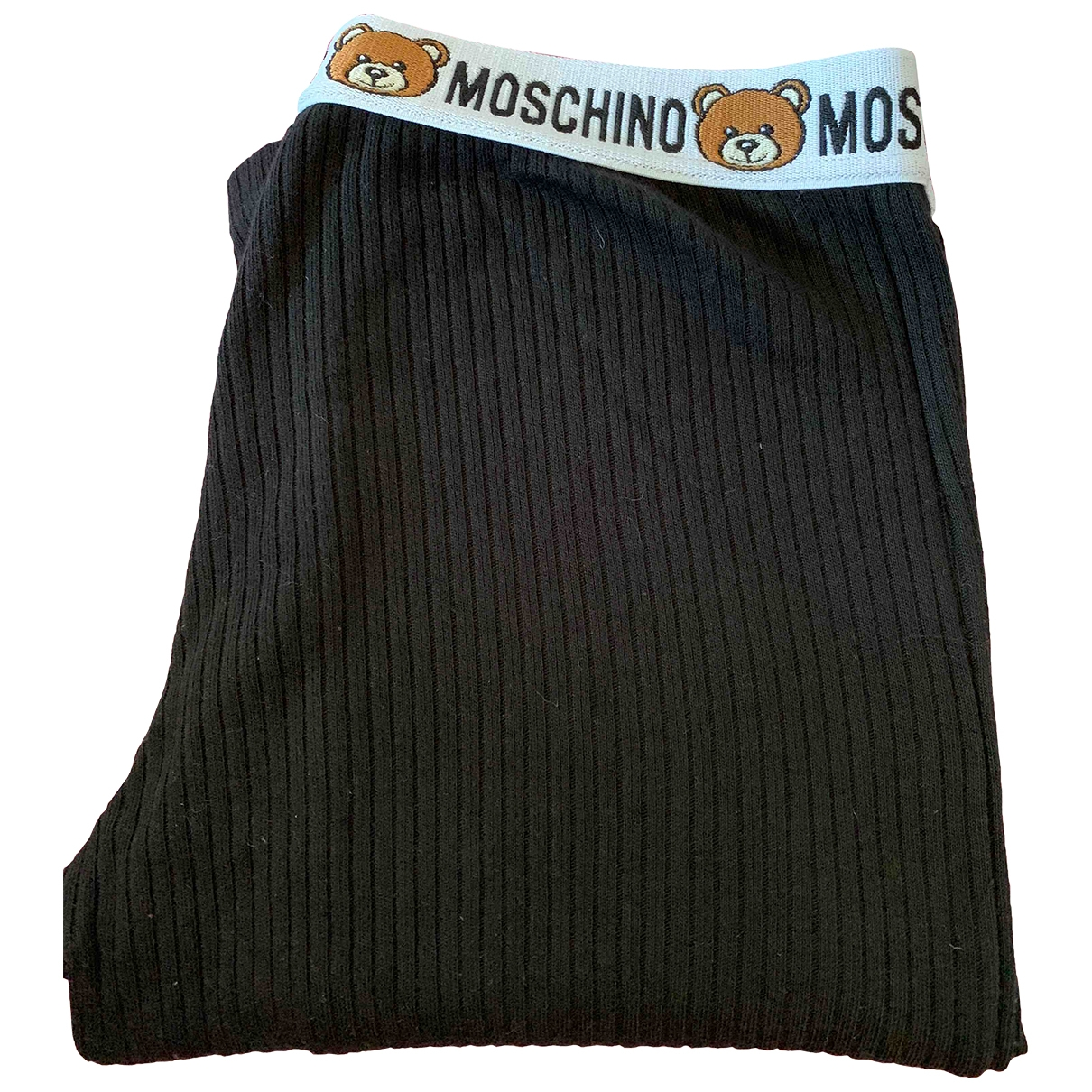 Moschino \N Black Cotton Trousers for Women M