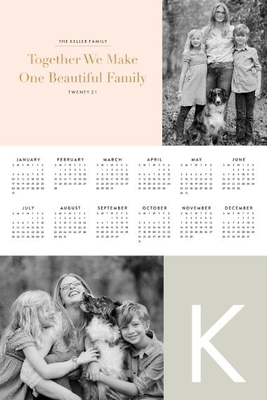 Calendar 24x36 Poster , Home Décor -A Simple Life