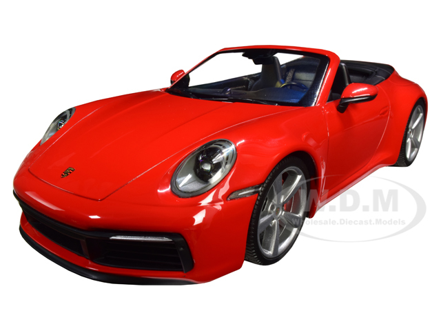 2019 Porsche 911 Carrera 4S Cabriolet Red Limited Edition to 504 pieces Worldwide 1/18 Diecast Model Car by Minichamps