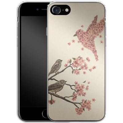 Apple iPhone 7 Silikon Handyhuelle - Blossom Bird von Terry Fan