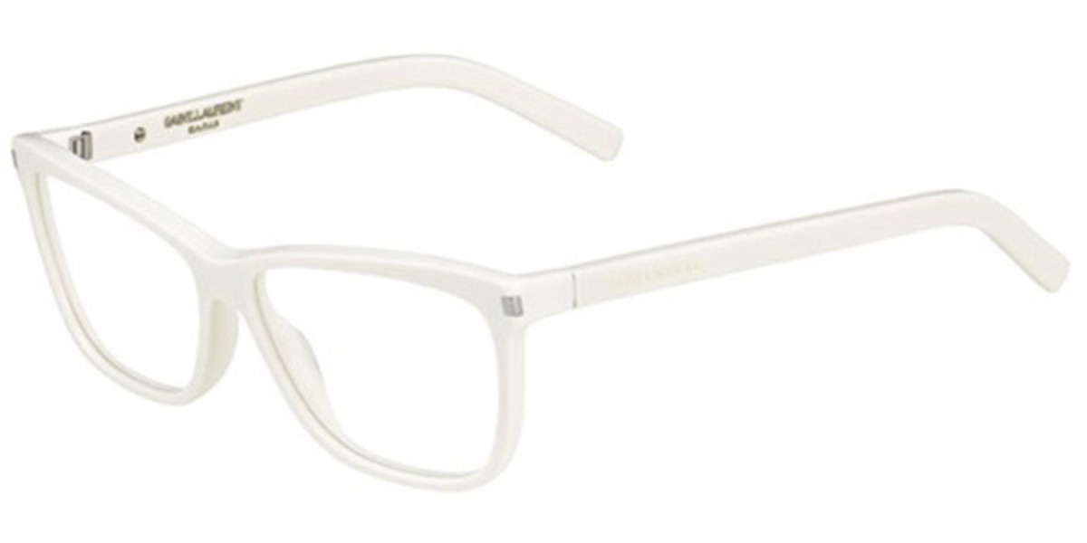 YSL Yves Saint Laurent SL 42 FMZ Women's Glasses White Size 56 - Free Lenses - HSA/FSA Insurance - Blue Light Block Available
