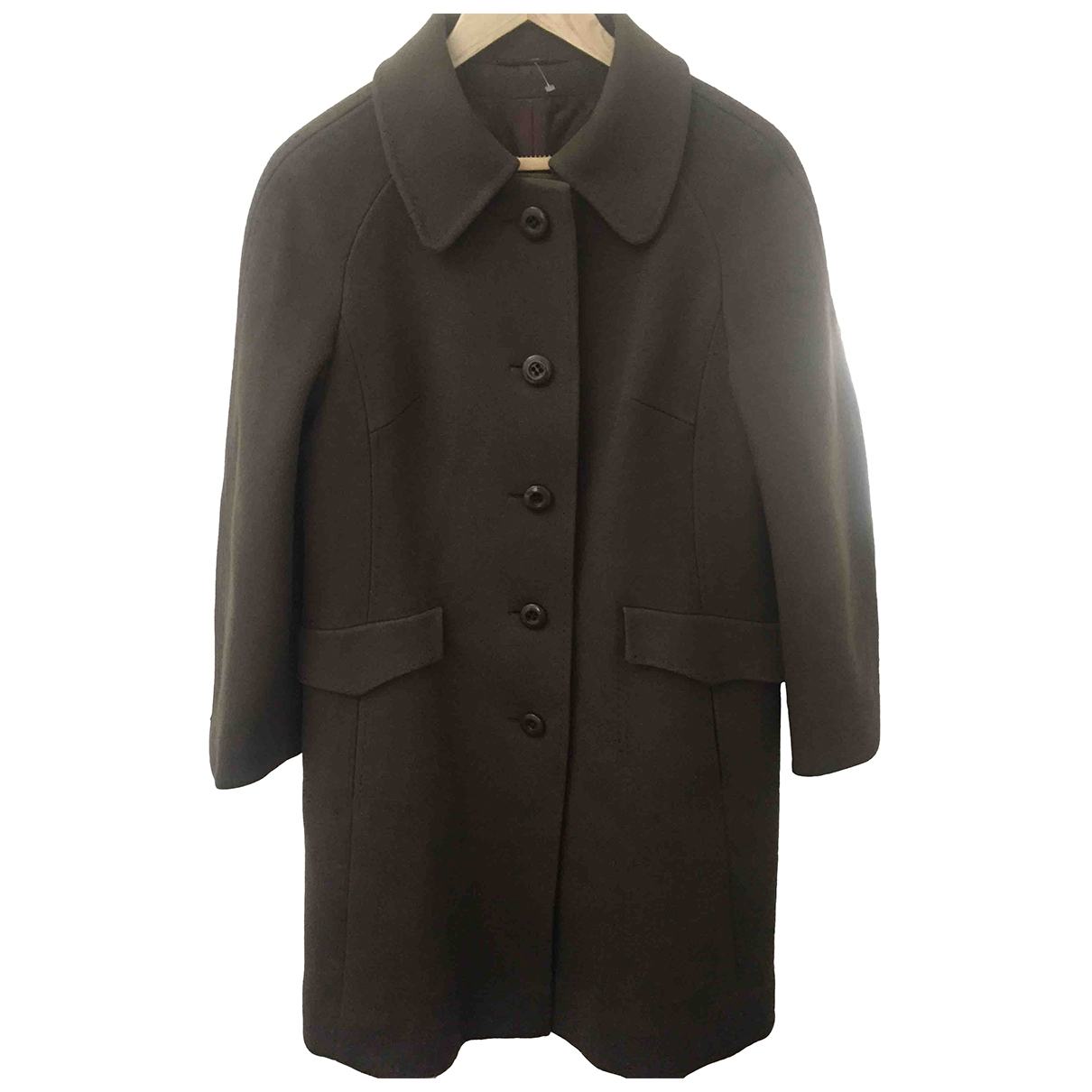 Non Signé / Unsigned \N Brown Wool coat for Women 18-20 UK