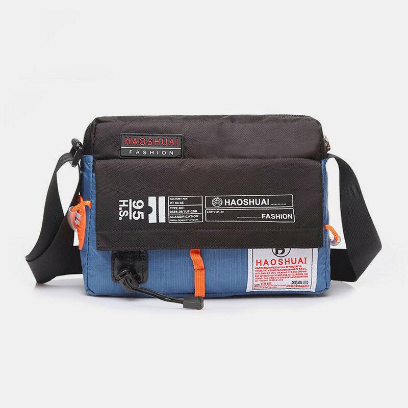 Nylon Waterproof Multi-function Crossbody Bag For Women Men