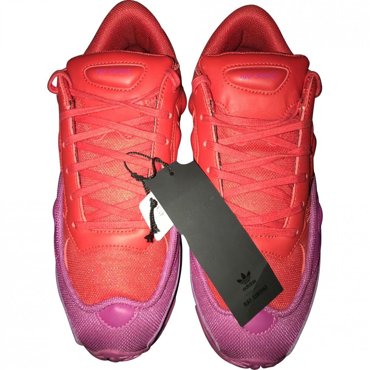 Adidas X Raf Simons Ozweego 2 Purple Leather Trainers for Men 9 US