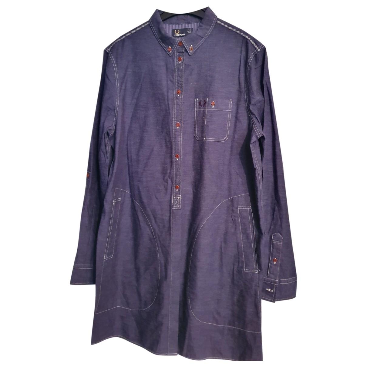 Fred Perry \N Kleid in  Blau Baumwolle