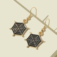 Cobweb Charm Drop Earrings