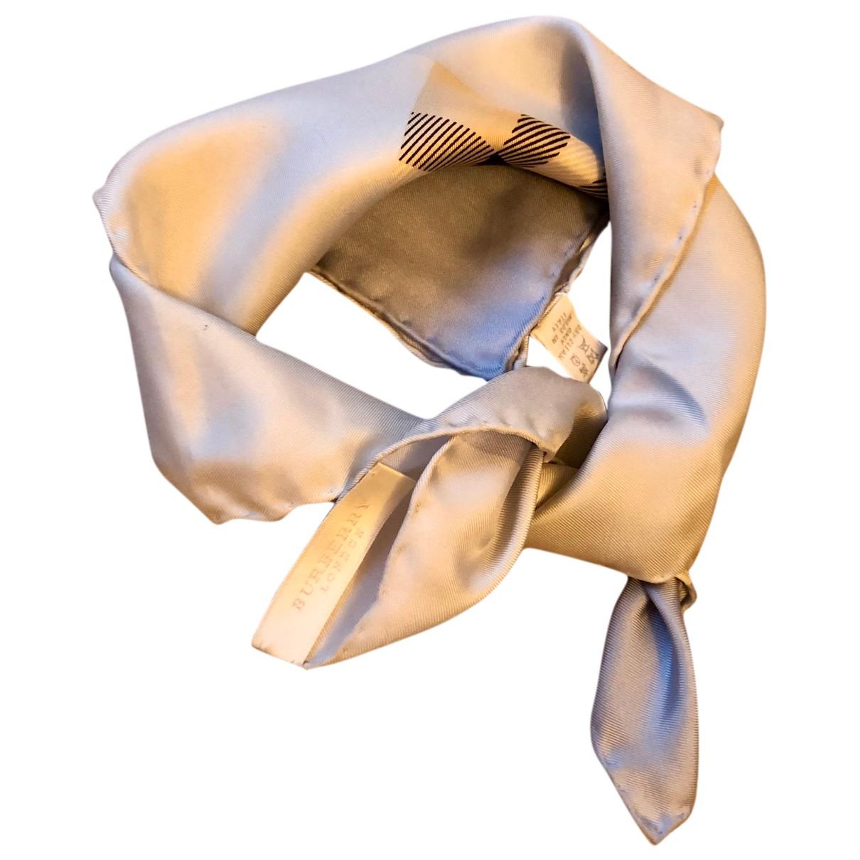 Burberry - Carre   pour femme en soie - bleu