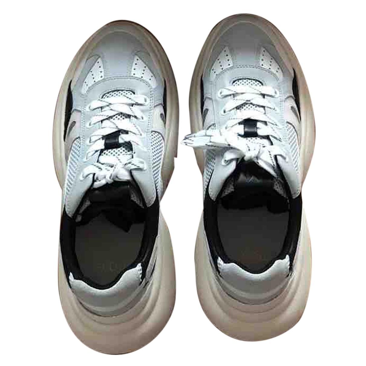 Maje Spring Summer 2020 Sneakers in  Weiss Leder