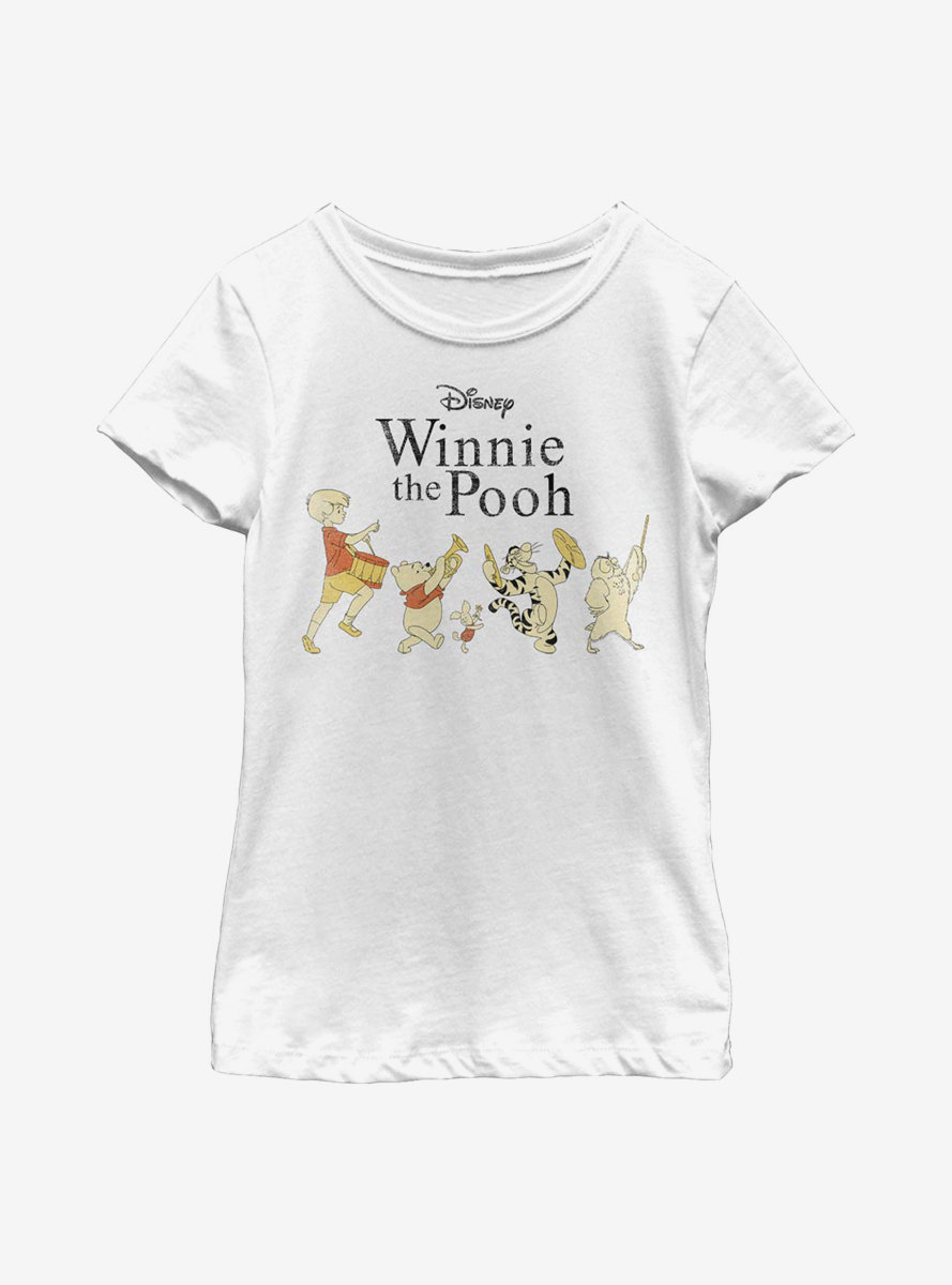 Disney Winnie The Pooh Parade Youth Girls T-Shirt