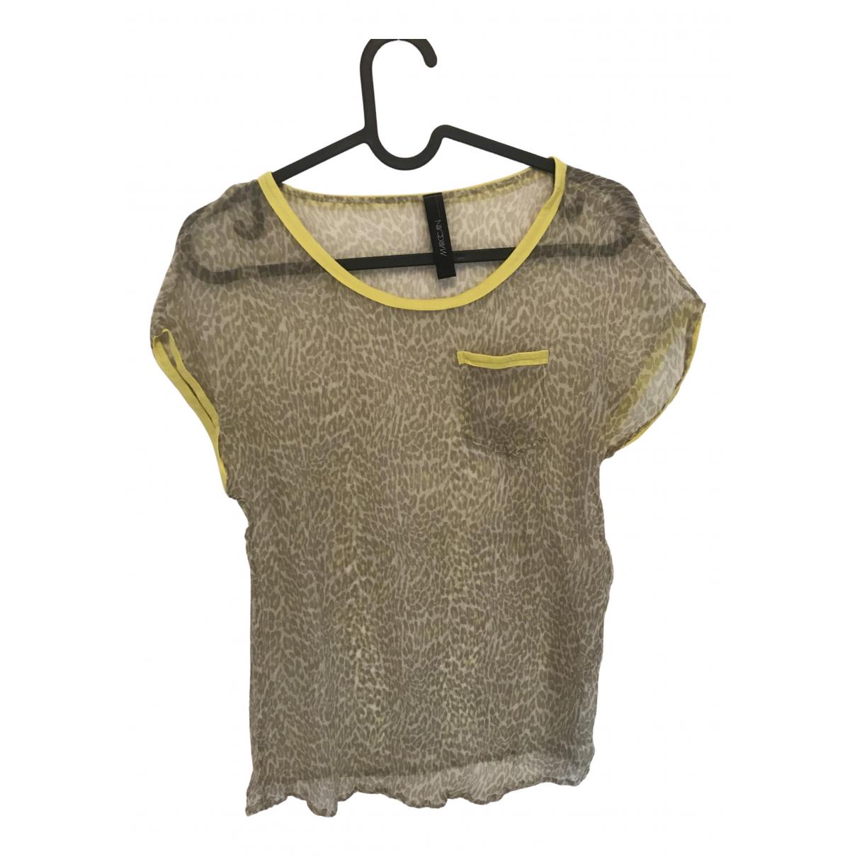 Marc Cain - Top   pour femme en soie - jaune