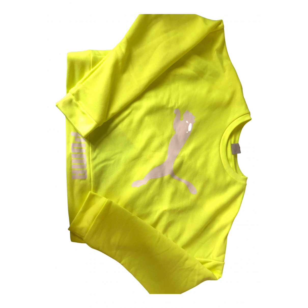 Puma N Yellow Cotton Knitwear for Women 40 IT