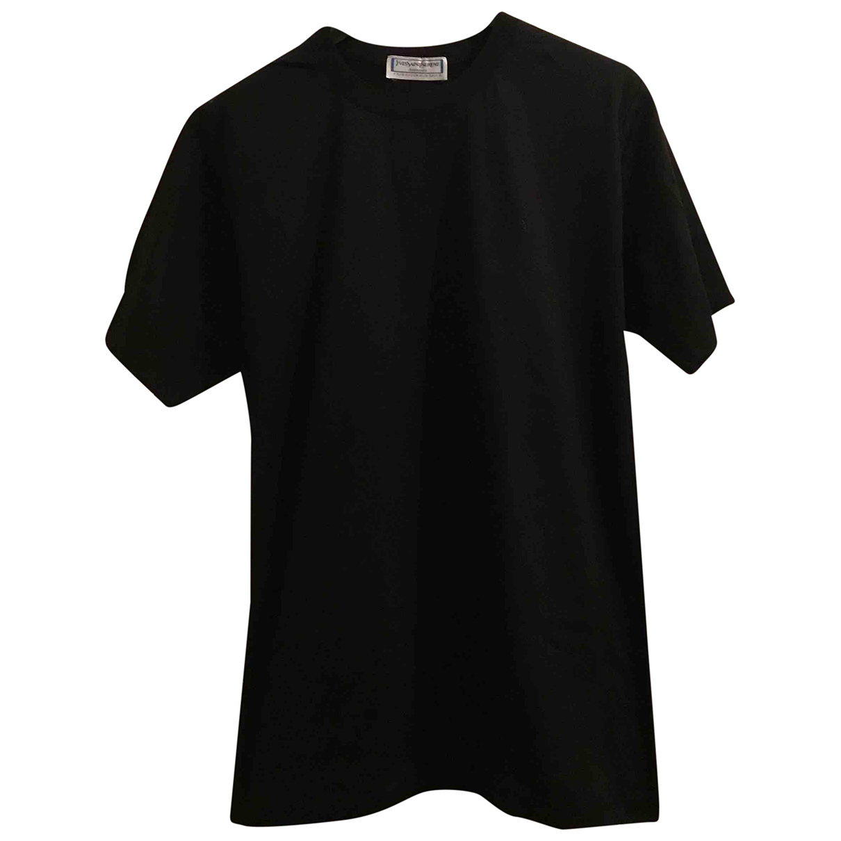 Yves Saint Laurent N Black Cotton T-shirts for Men XL International