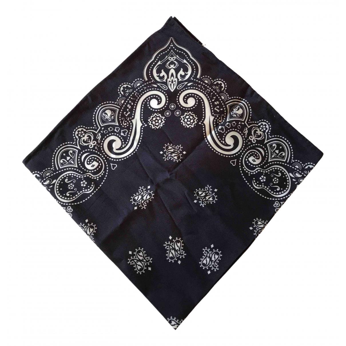 Number Nine - Takahiro Miyashita \N Blue Cotton scarf & pocket squares for Men \N