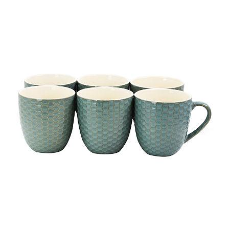 Elama Honeycomb 6-pc. Coffee Mug, One Size , Blue