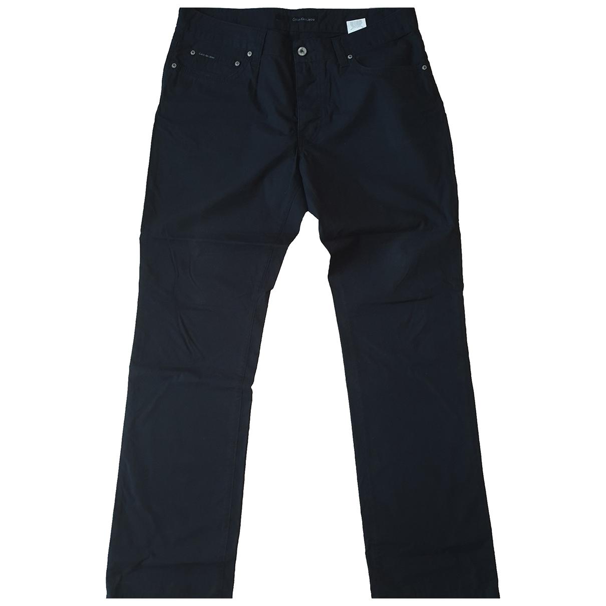 Calvin Klein \N Black Cotton Trousers for Men 48 IT