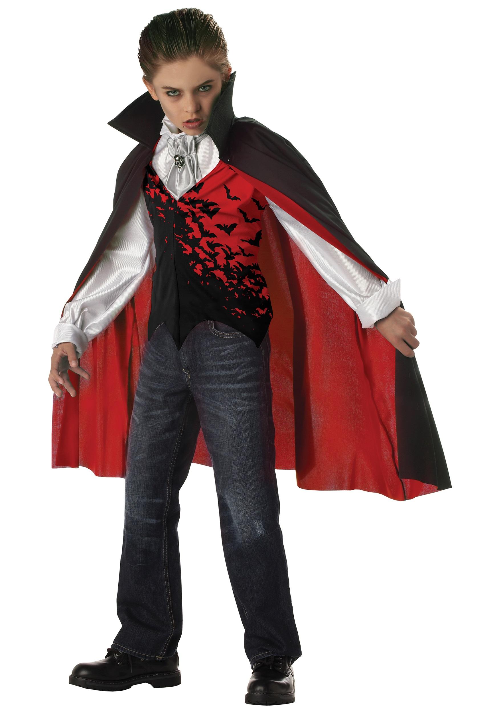 Kids Dark Vampire Costume