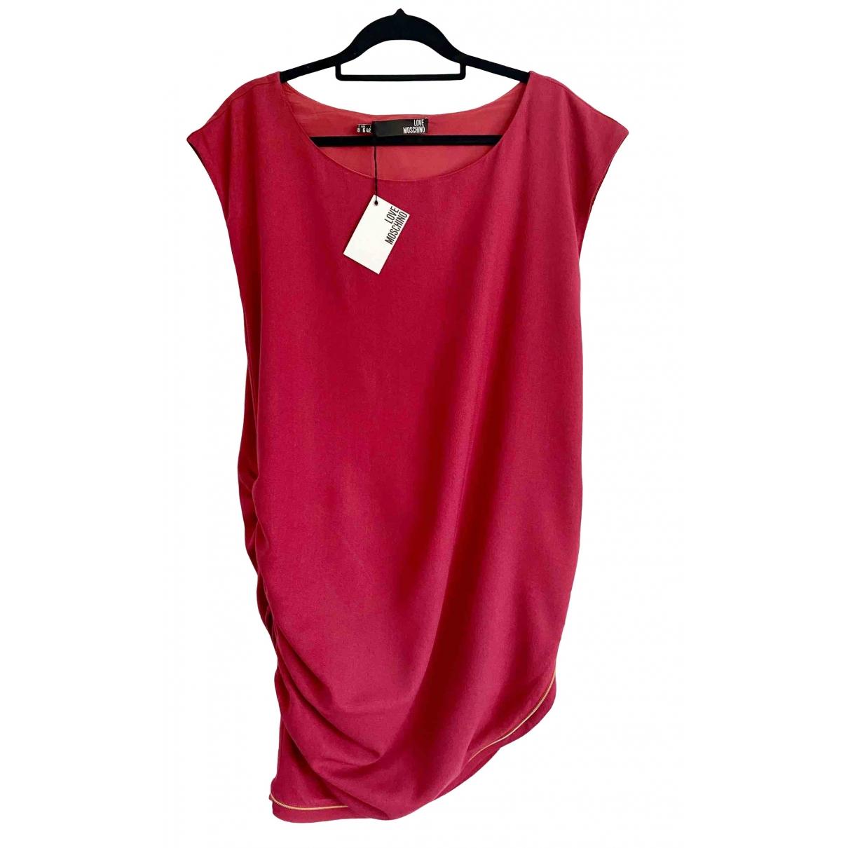 Moschino Love \N Kleid in  Rot Viskose