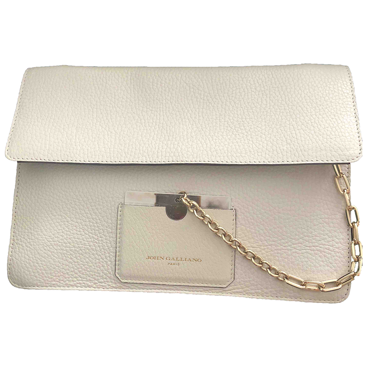 John Galliano \N Clutch in  Beige Leder