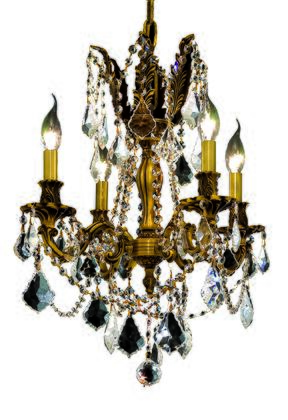 9204D17FG/SS 9204 Rosalia Collection Hanging Fixture D17in H21in Lt: 4 French Gold Finish (Swarovski Strass/Elements