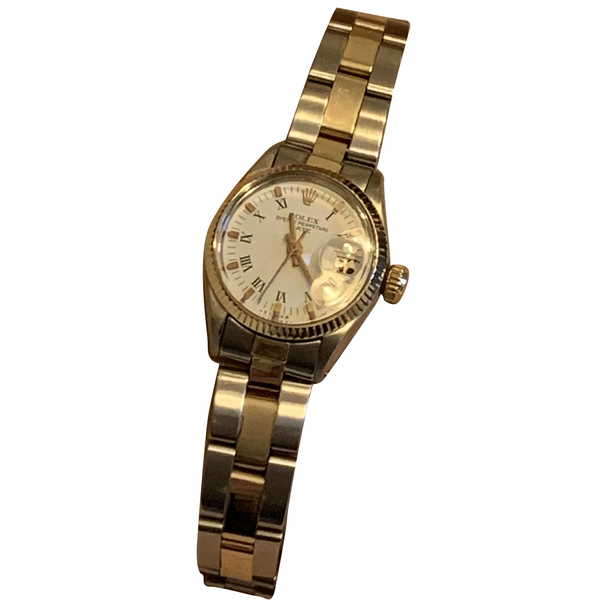 Rolex Lady Oyster Perpetual 24mm Uhr in Gold und Stahl
