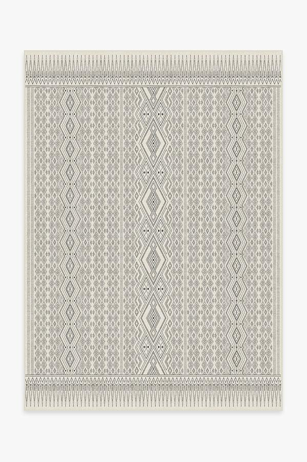 Washable Rug Cover | Herdanza Black & White Rug | Stain-Resistant | Ruggable | 5'x7'