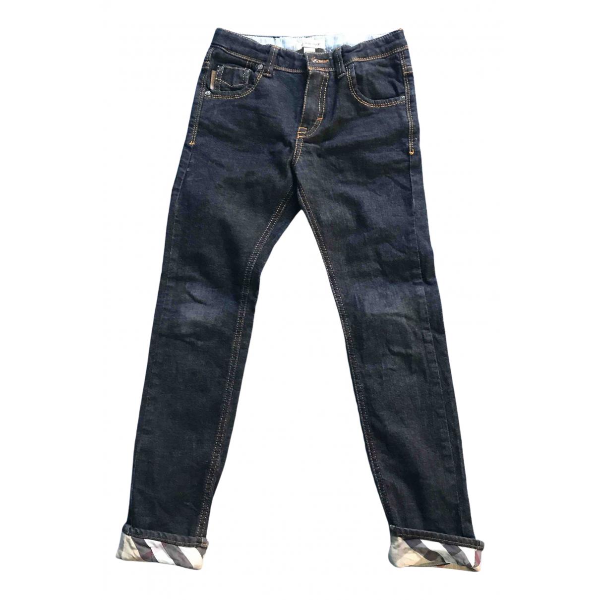 Burberry - Pantalon   pour enfant en denim - noir