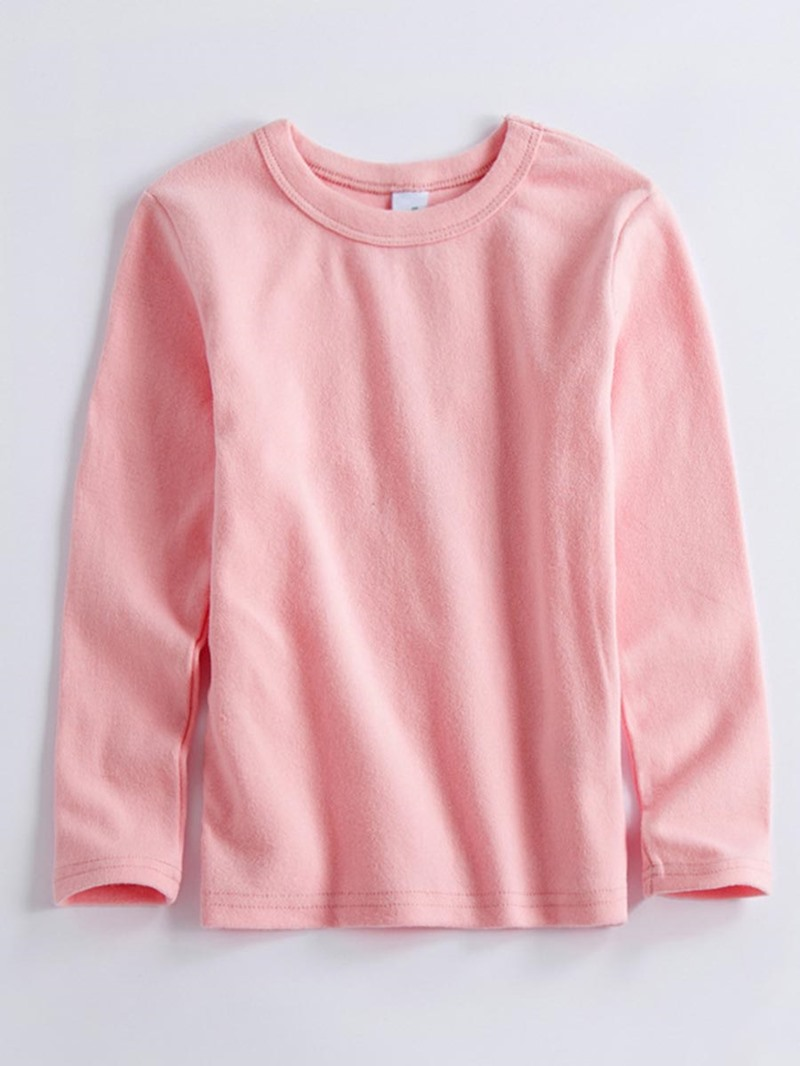 Ericdress Candy Color Round-Neck Long Sleeve Girl's T-Shirt