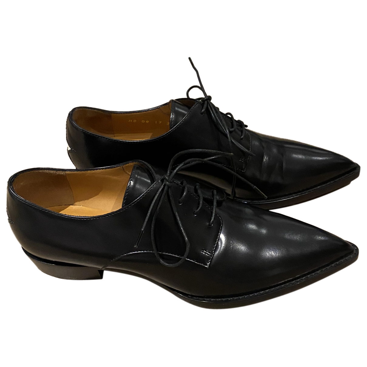 Dior N Black Leather Lace ups for Women 36.5 EU