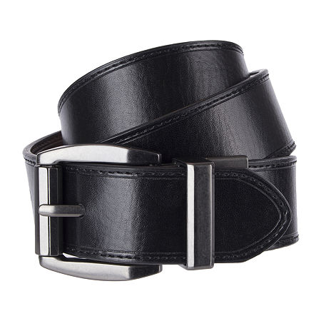 Levi's Big & Tall Creased Reversible Belt, Xxl (46-48) , Black