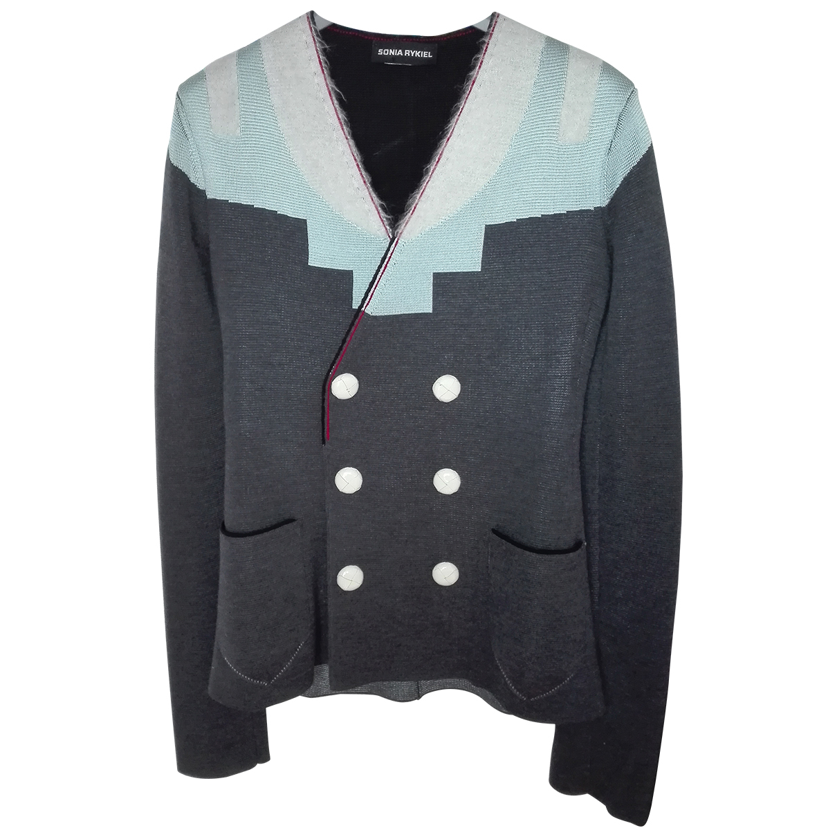 Sonia Rykiel - Veste   pour femme en laine - gris
