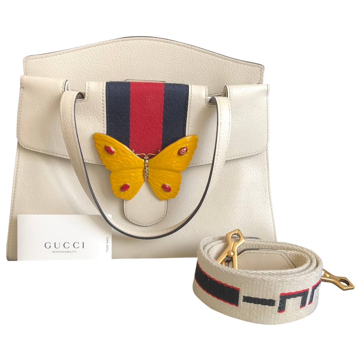 Gucci GucciTotem White Leather handbag for Women \N