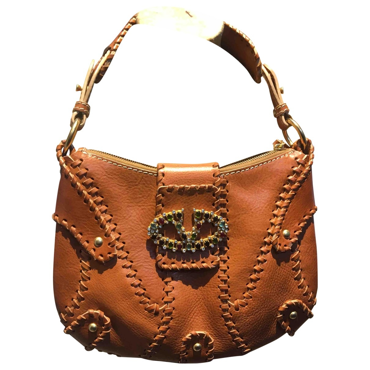 Valentino Garavani \N Handtasche in  Braun Leder