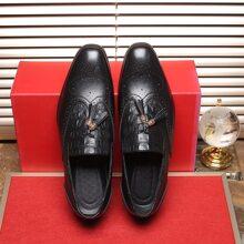 Zapatos de vestir de hombres con diseño de cocodrilo con fleco