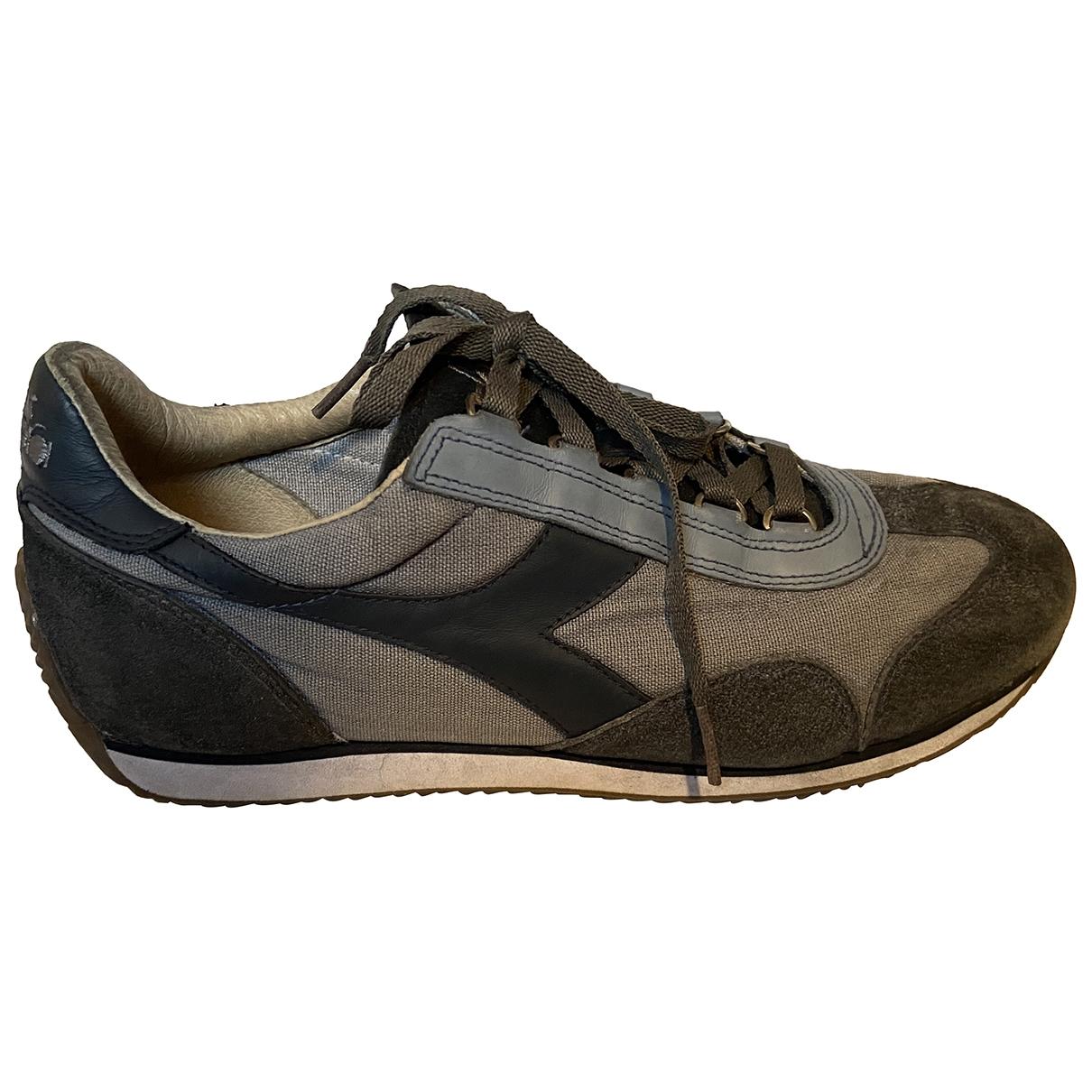 Diadora \N Sneakers in  Blau Leinen