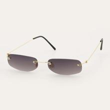 Maenner Randlose Sonnenbrille mit getonten Linsen