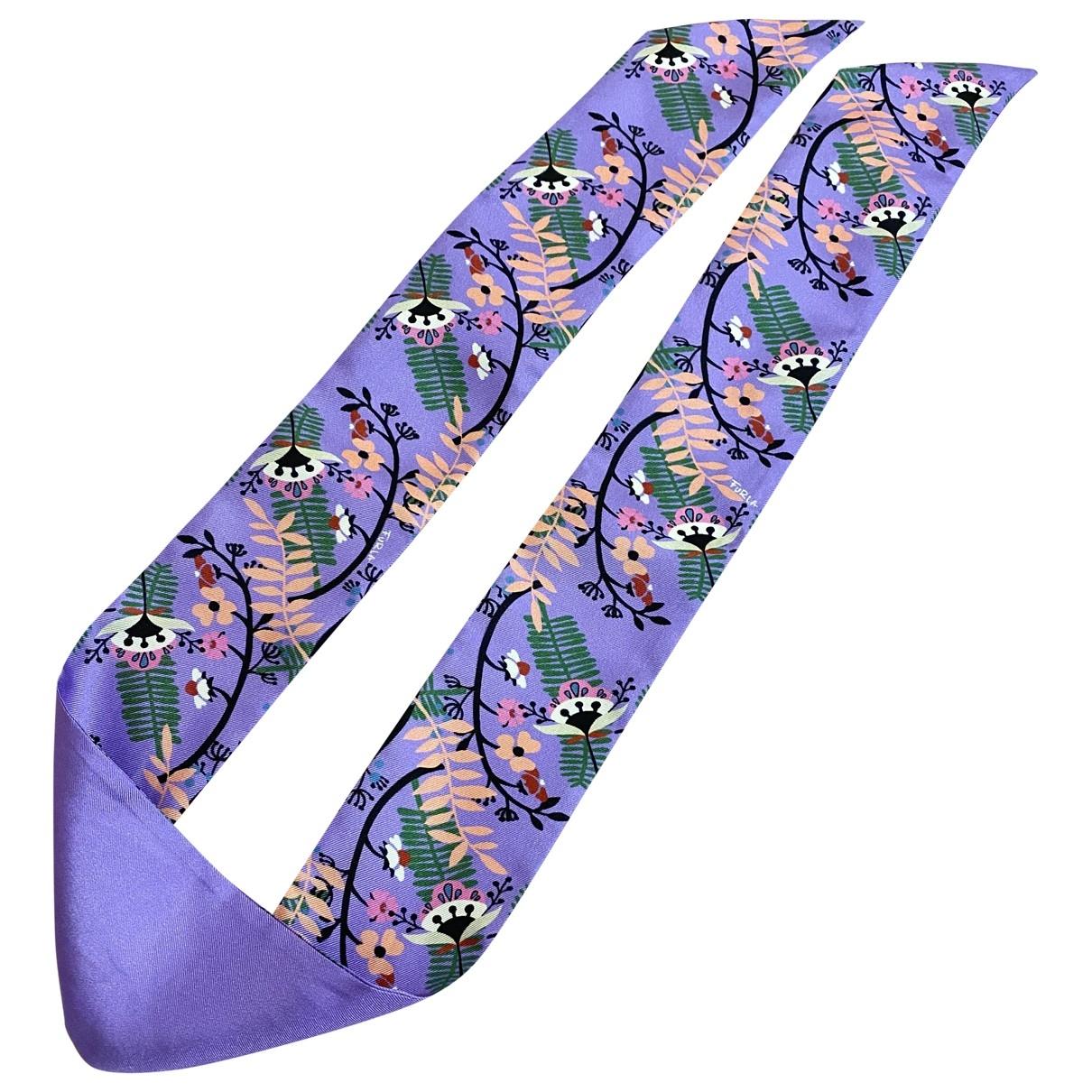 Furla - Carre   pour femme en soie - violet