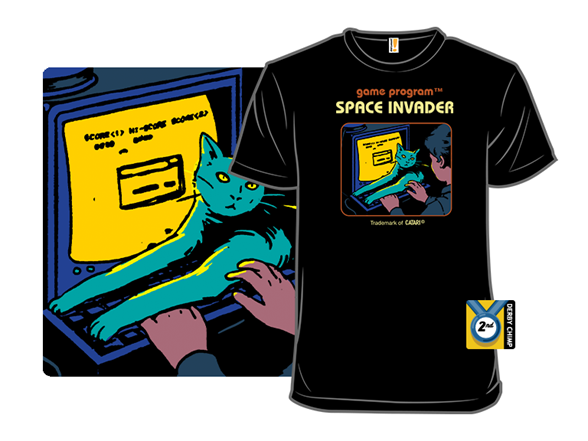 Space Invader T Shirt