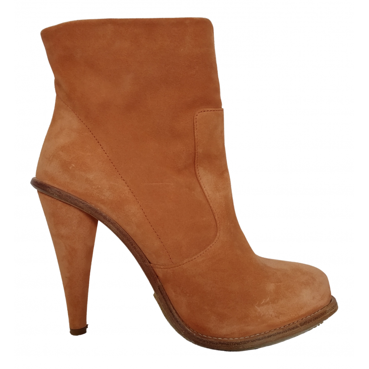 Opening Ceremony \N Orange Suede Ankle boots for Women 39 EU