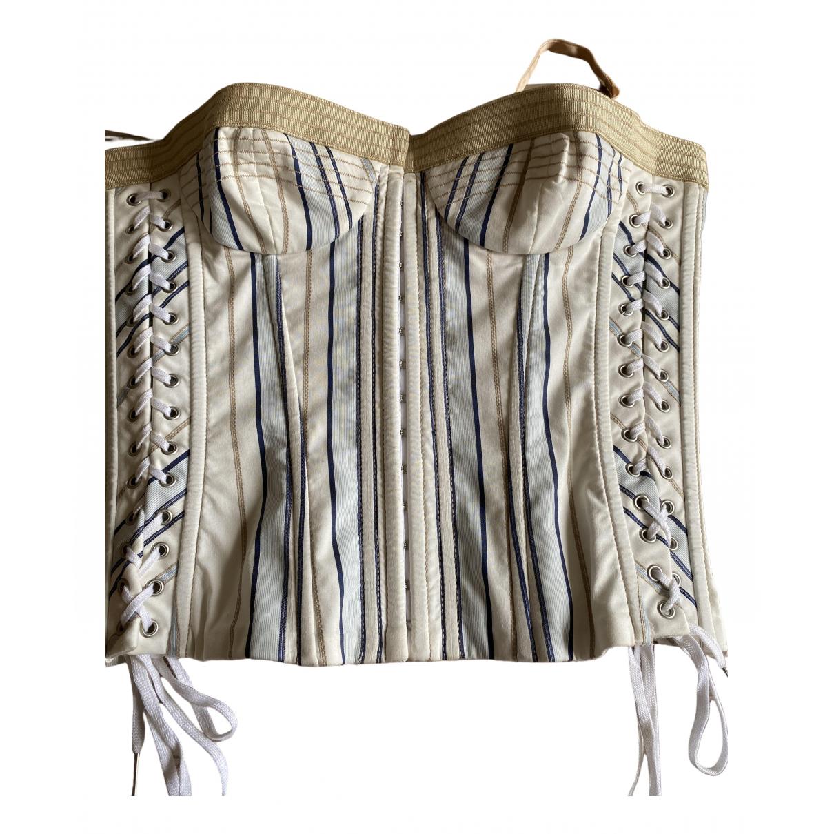 Dolce & Gabbana - Top   pour femme en coton - multicolore