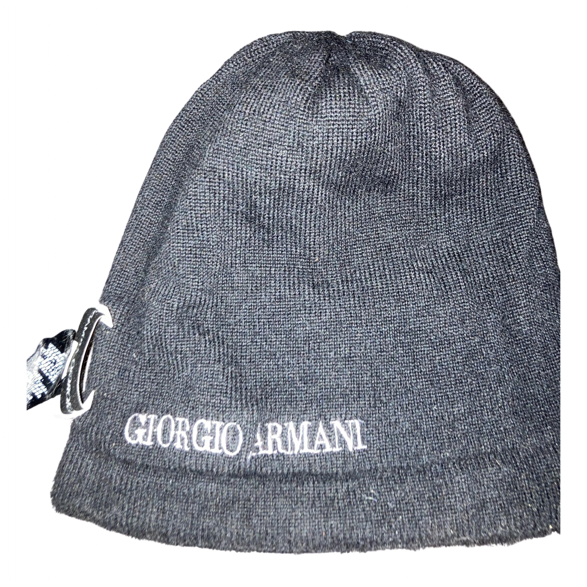 Giorgio Armani N Black Cashmere hat & pull on hat for Men M International